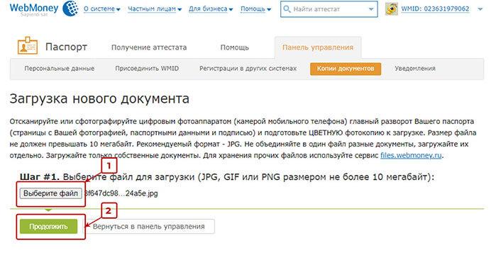 Вебмани регистрация 10