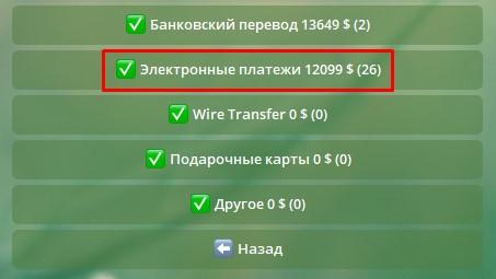 Выбор способа оплаты для того, чтобы купить биткоин за рубли через телеграм-бот