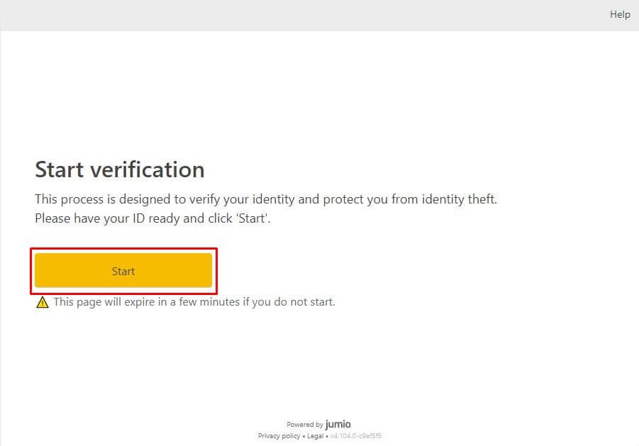 Начало верификации личности на бирже криптовалют Binance