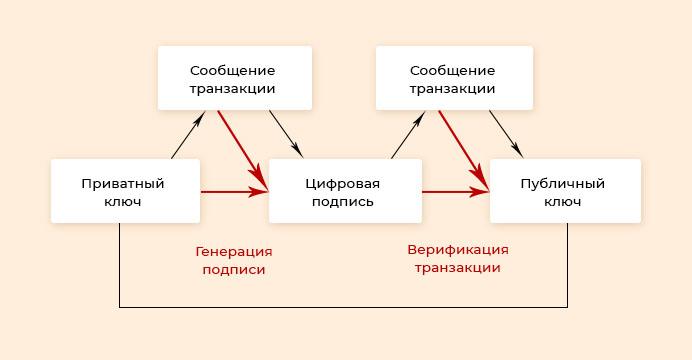 Верификация транзакции в биткоине